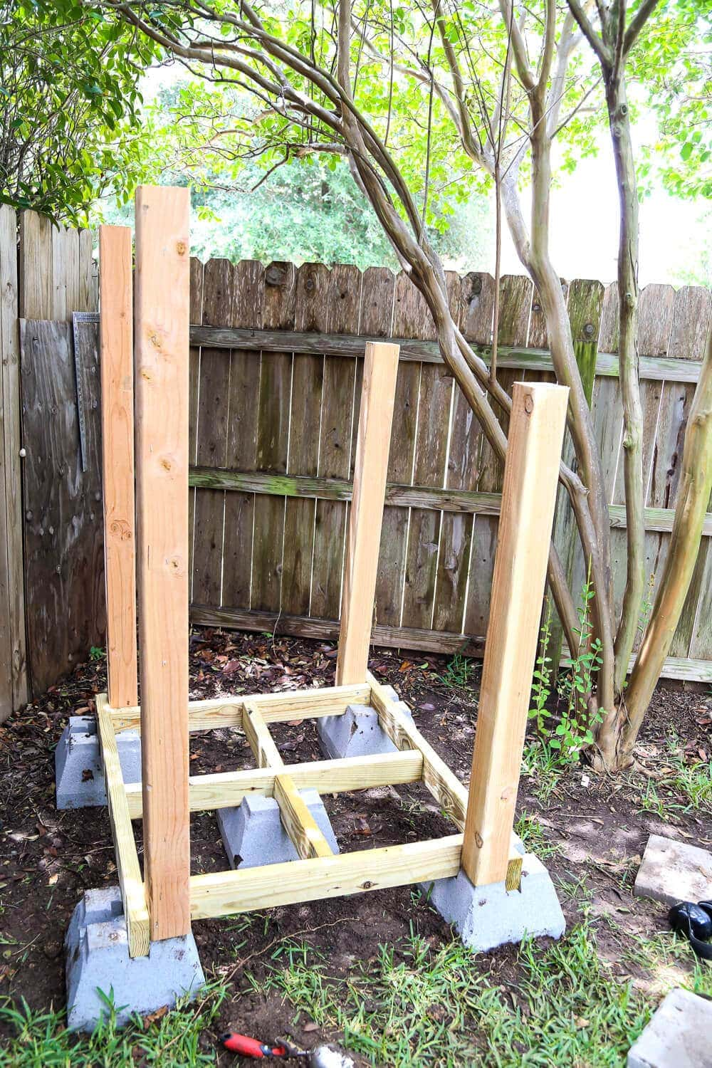 Framing for DIY backyard playhouse