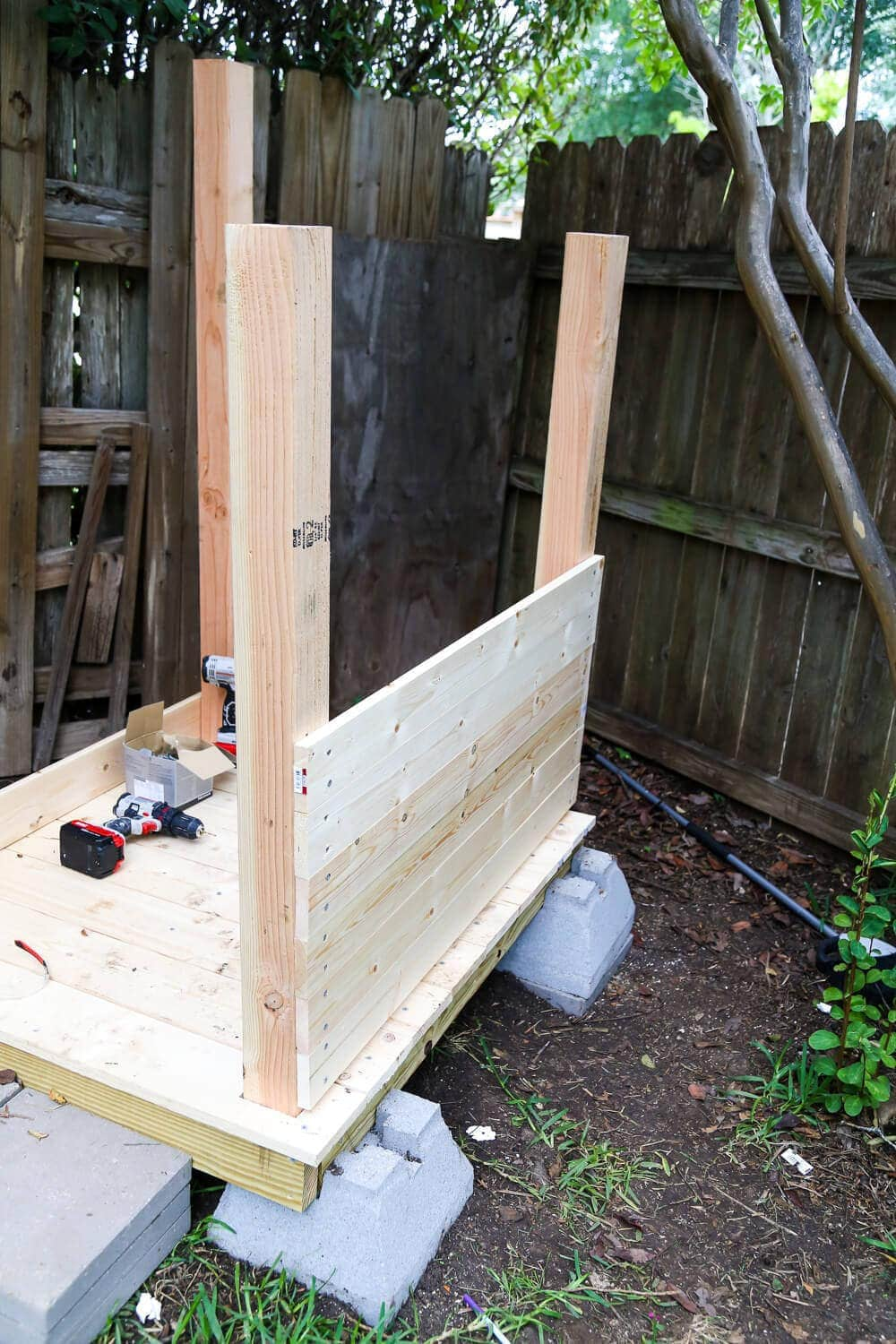 Walls for backyard playhouse