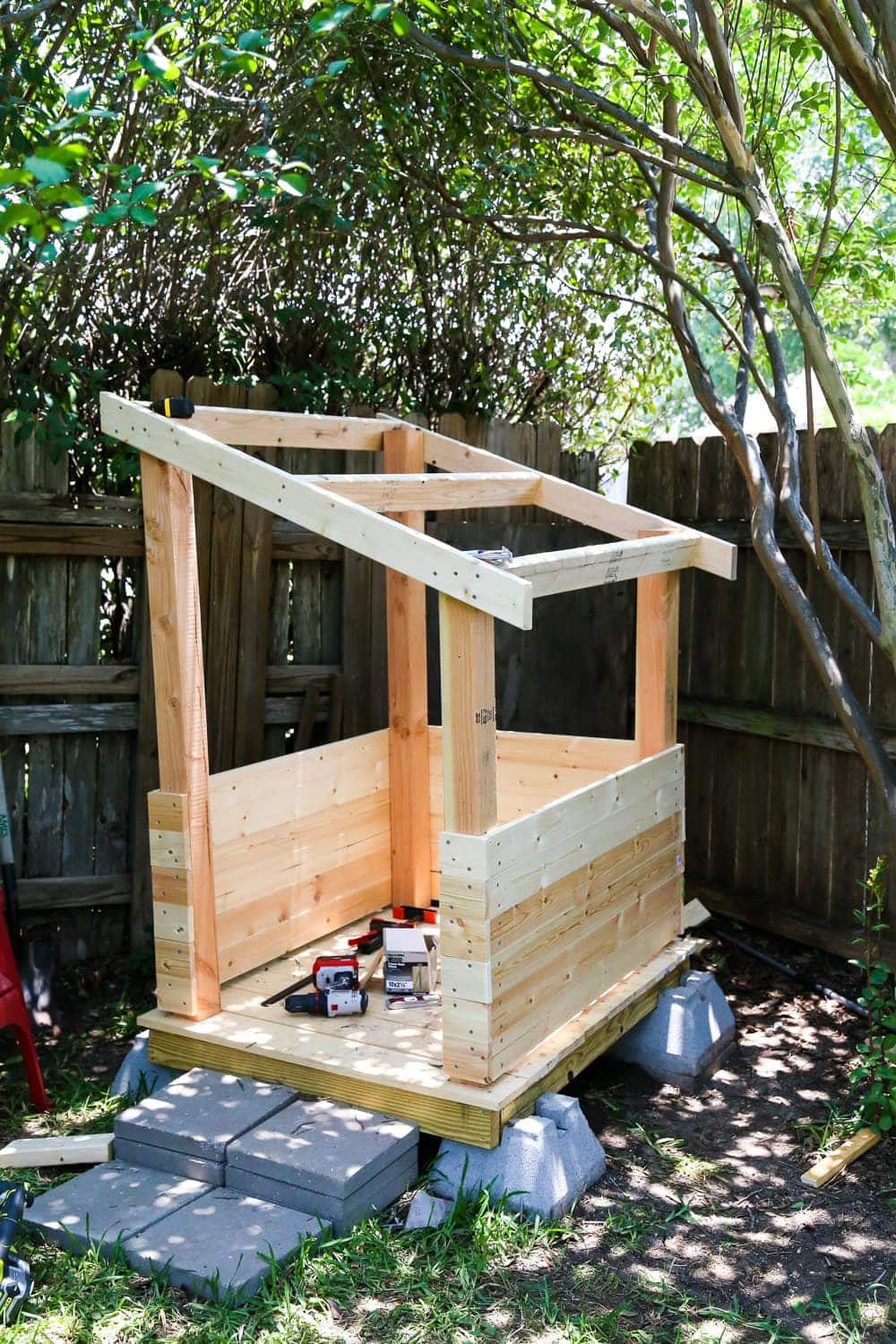 Building a DIY backyard playhouse