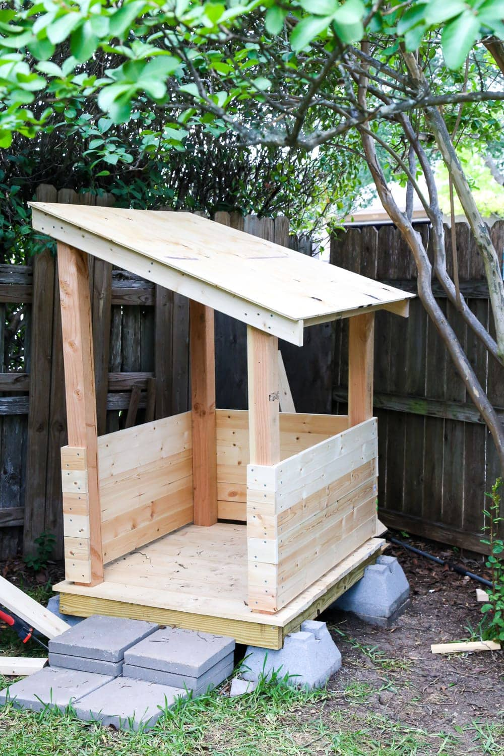 Unpainted DIY playhouse