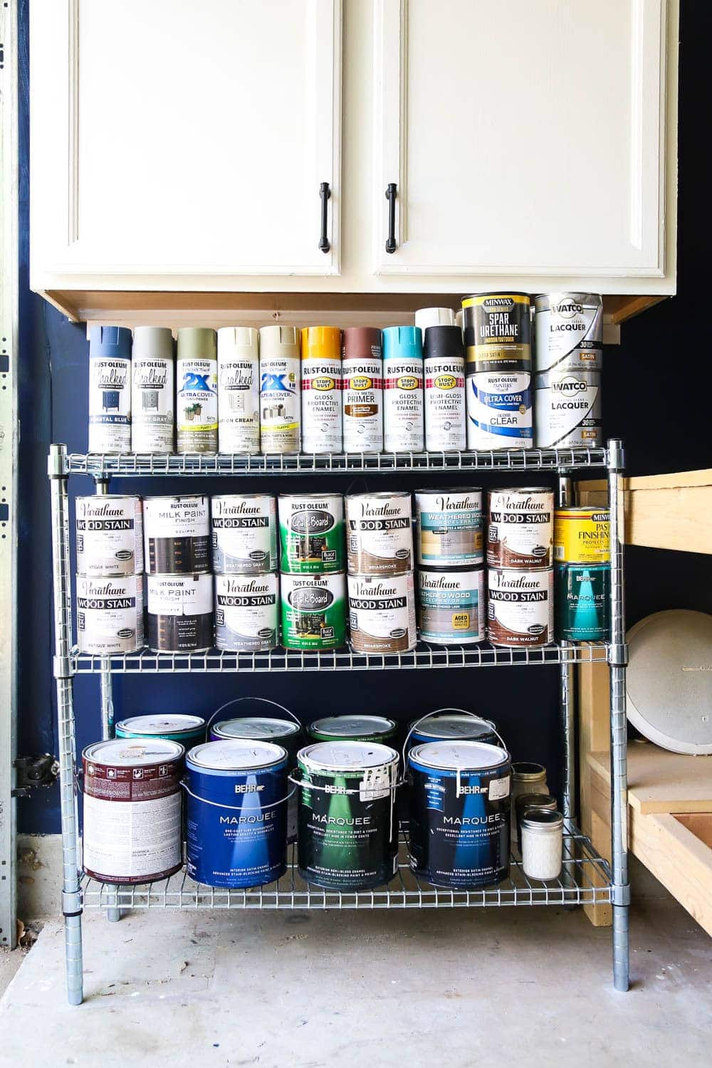How to organize paint supplies