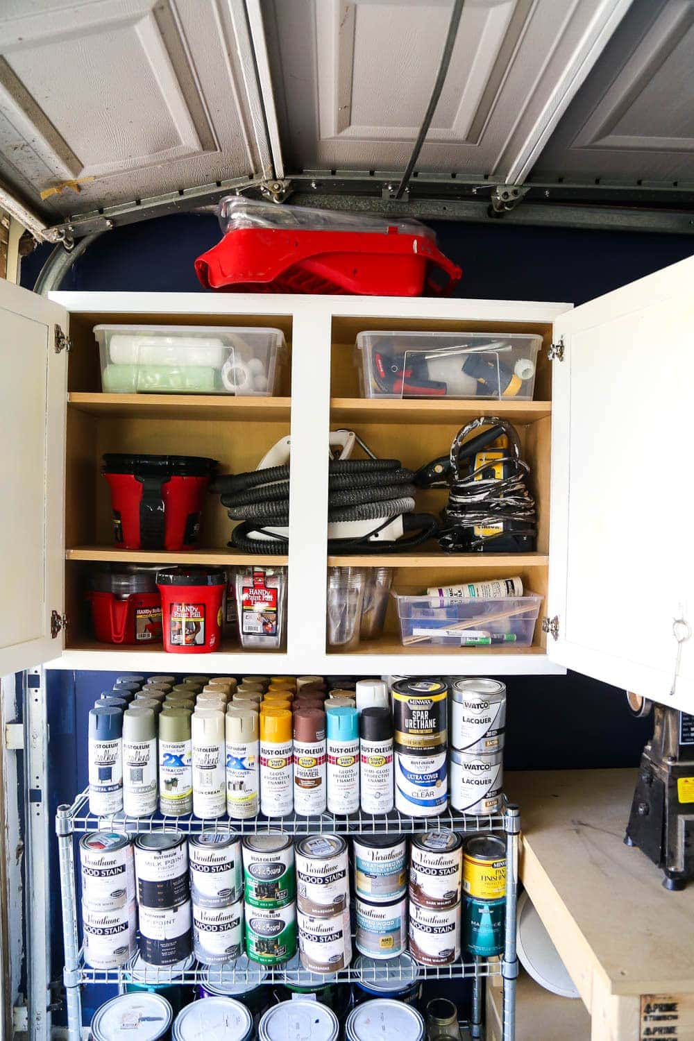 Ideas for how to organize paint supplies