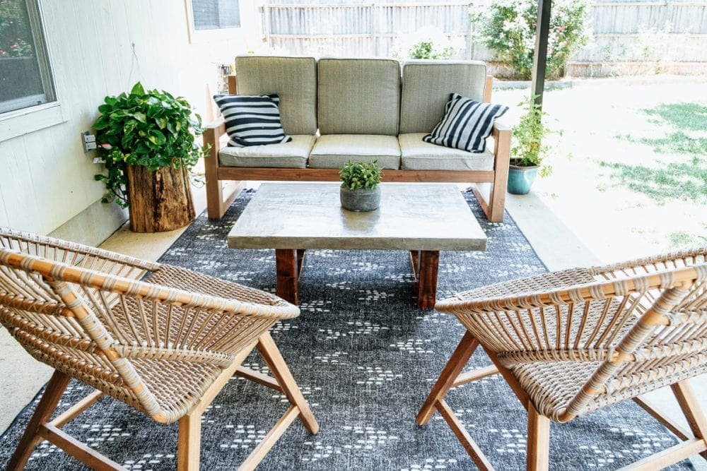 Diy Concrete Outdoor Coffee Table Love Renovations