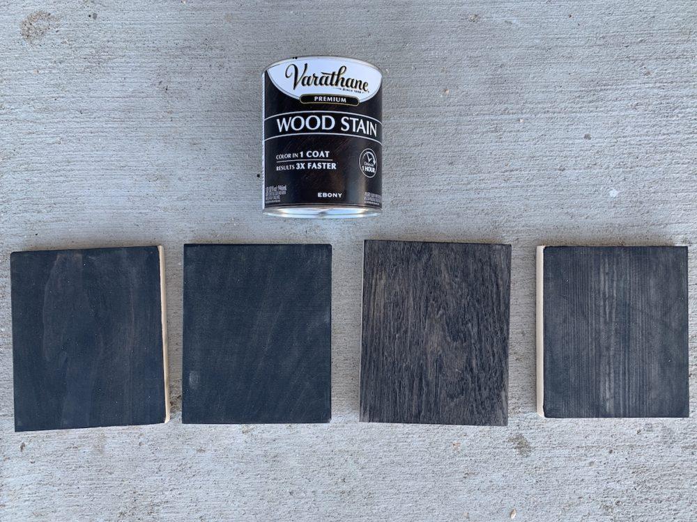 ebony stain samples