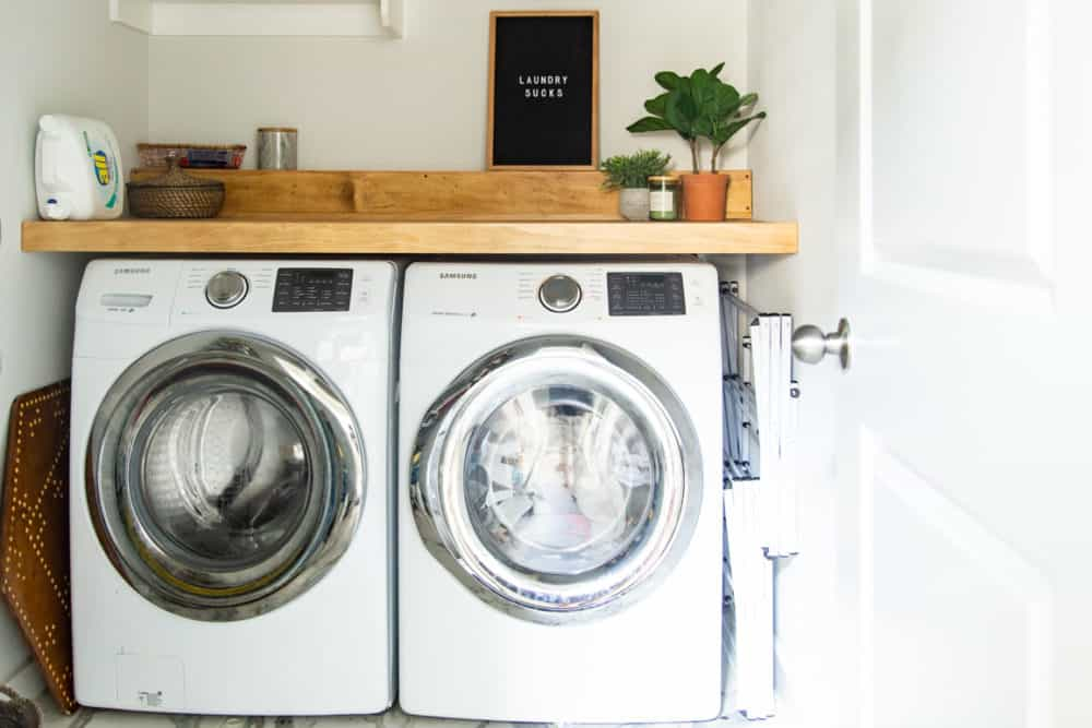 How to build a counter for your laundry room