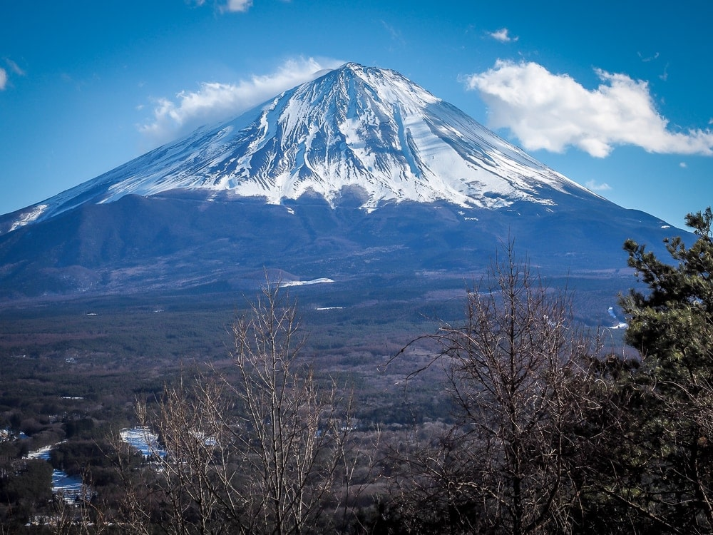 Koyo-Dai, one of the best places to see Mount Fuji