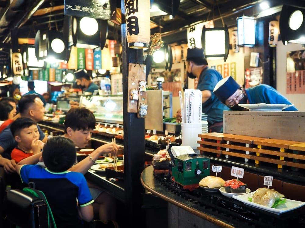 Train sushi, Ximending
