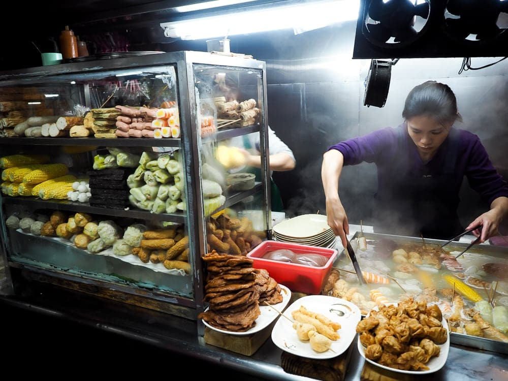 Nanjichang Night Market Keelung Tianbula vendor