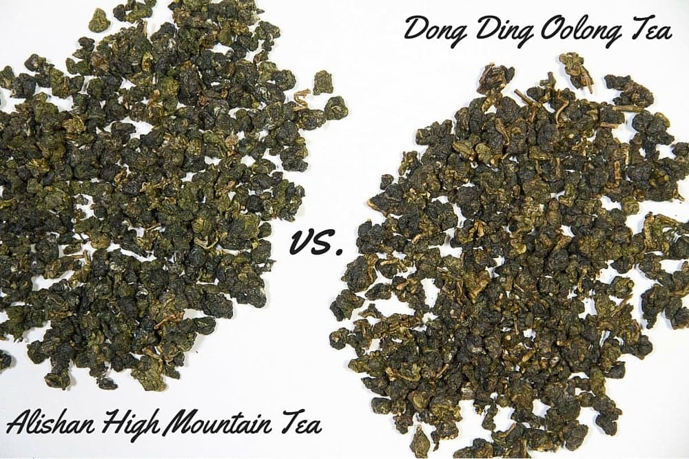 Dong ding oolong tea vs. Alishan high mountain tea