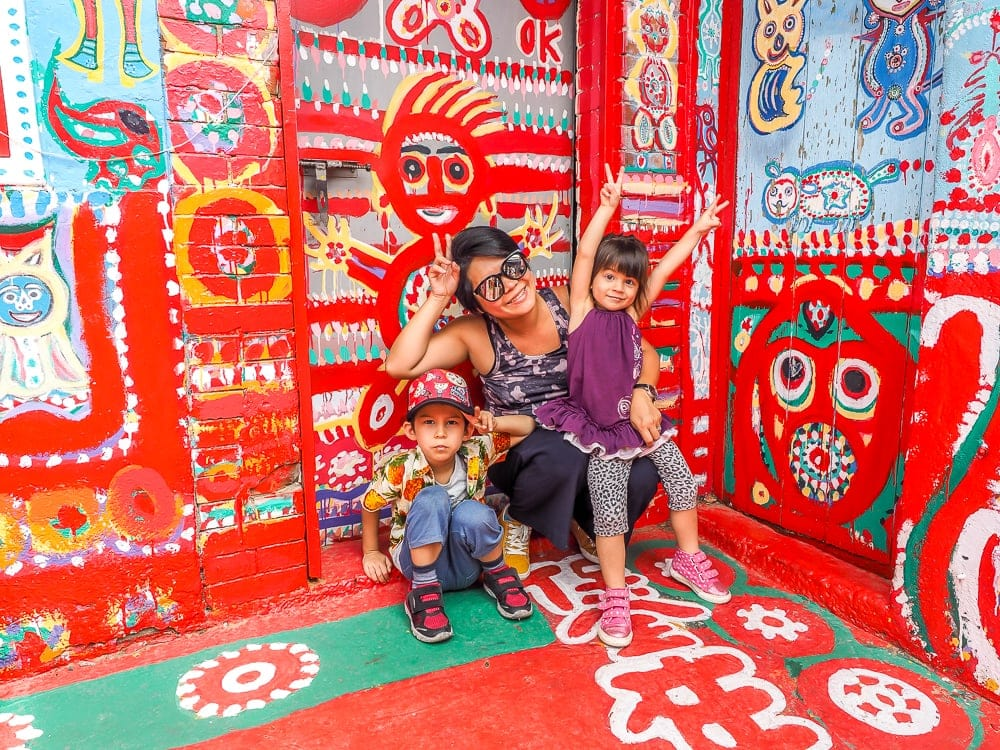 Rainbow Village Taichung with kids