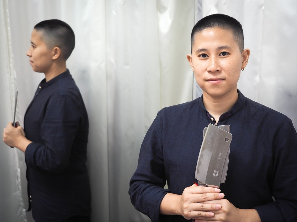 Olivia Wu, master of Chinese knife massage in Taipei, Taiwan