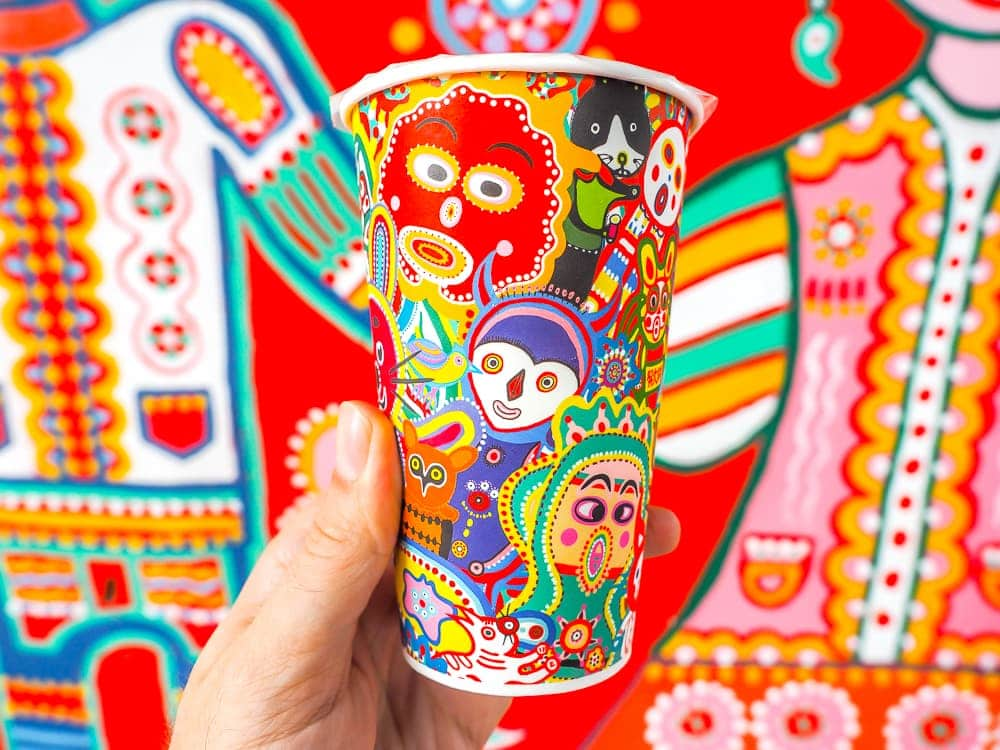 Taichung Rainbow Village coffee cup