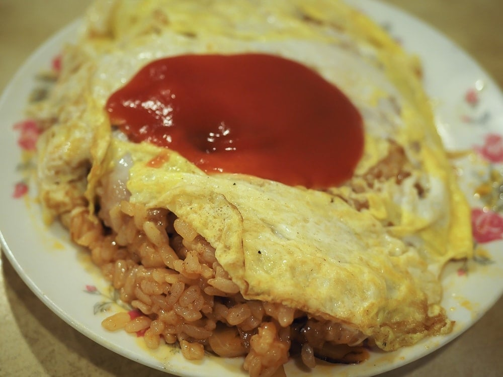Rice omelet, specialty at Wuming Restaurant, Ximending