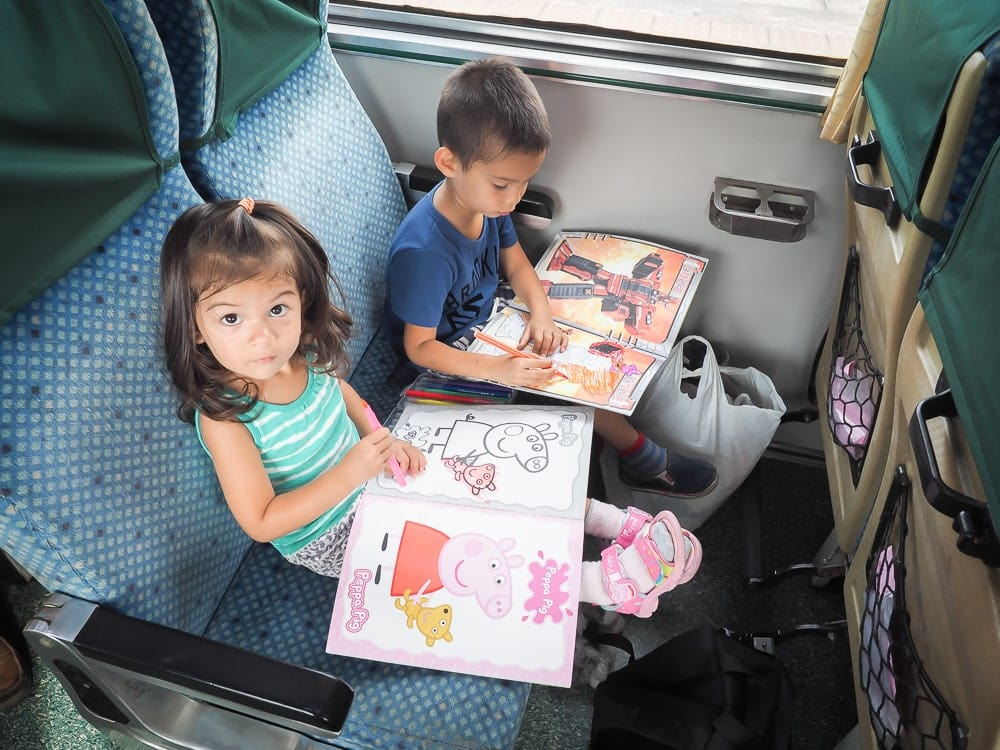 Taiwan trains with kids