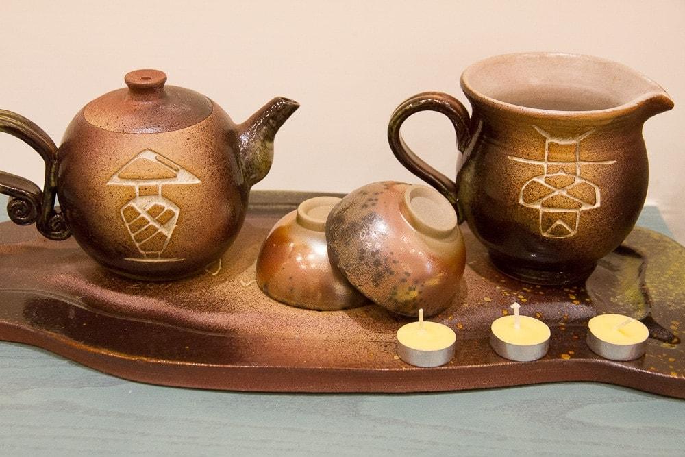 Moder Taiwan ceramics for sale at Taocheer Studio, Yingge