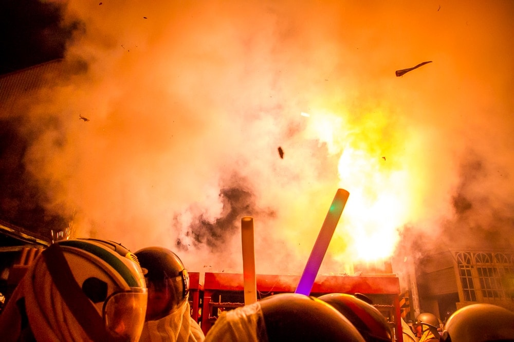 Fireworks explosion at Yanshui festival