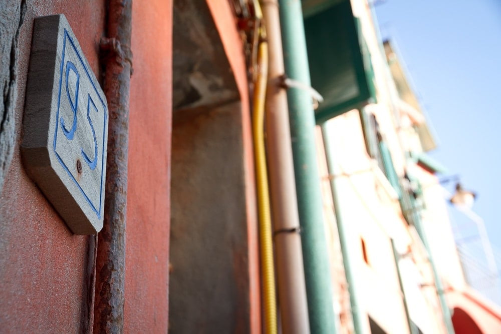 Cinque Terre address sign