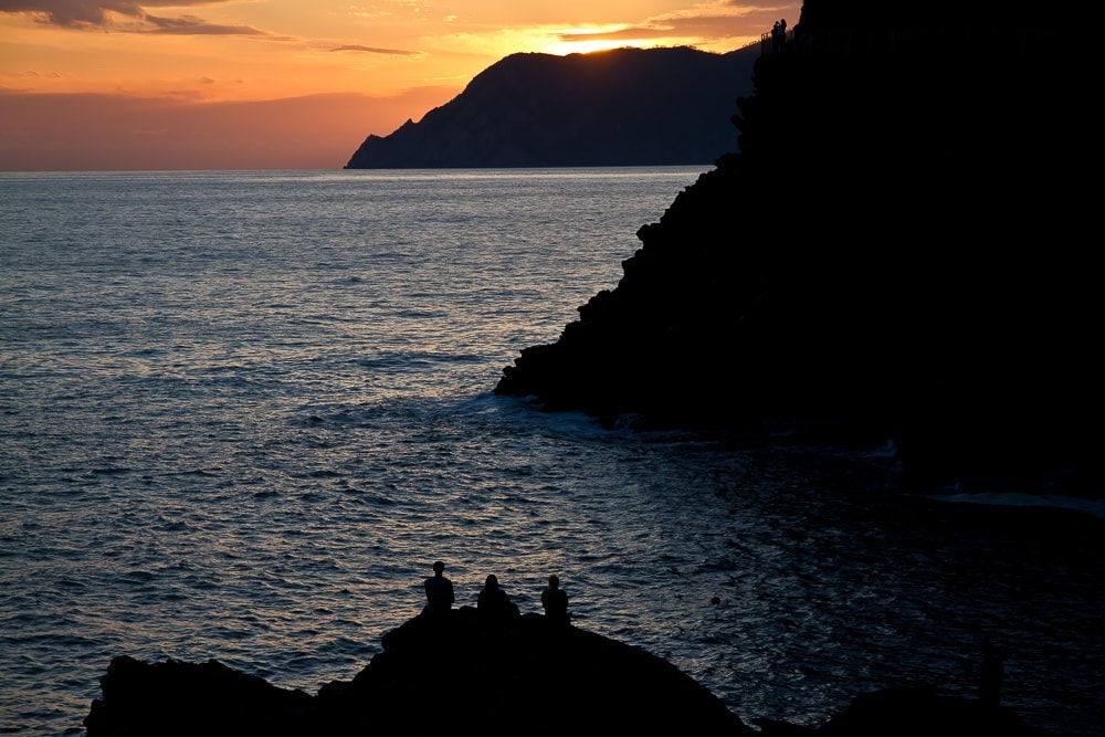 Cinque Terre sunsets, very romantic for a honeymoon in Northern Italy