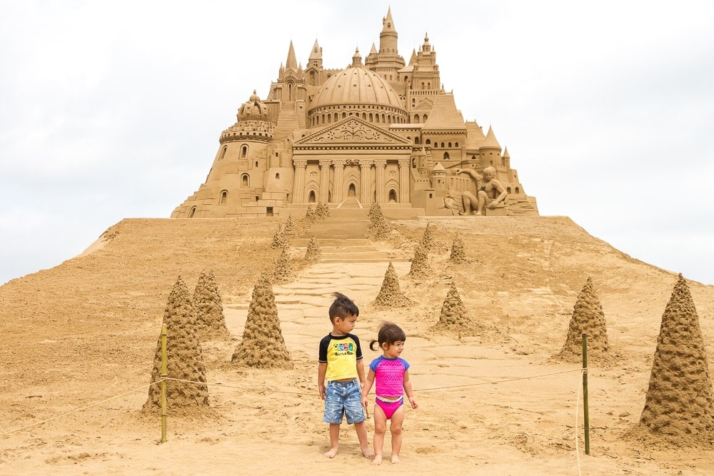 Fulong Sand Castle Festival, one of the best things to do in summer in taiwan