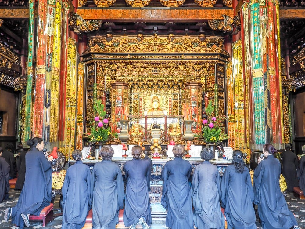 Main altar of Longshan Temple, the first place to begin on your Taiwan travel itinerary 5 days