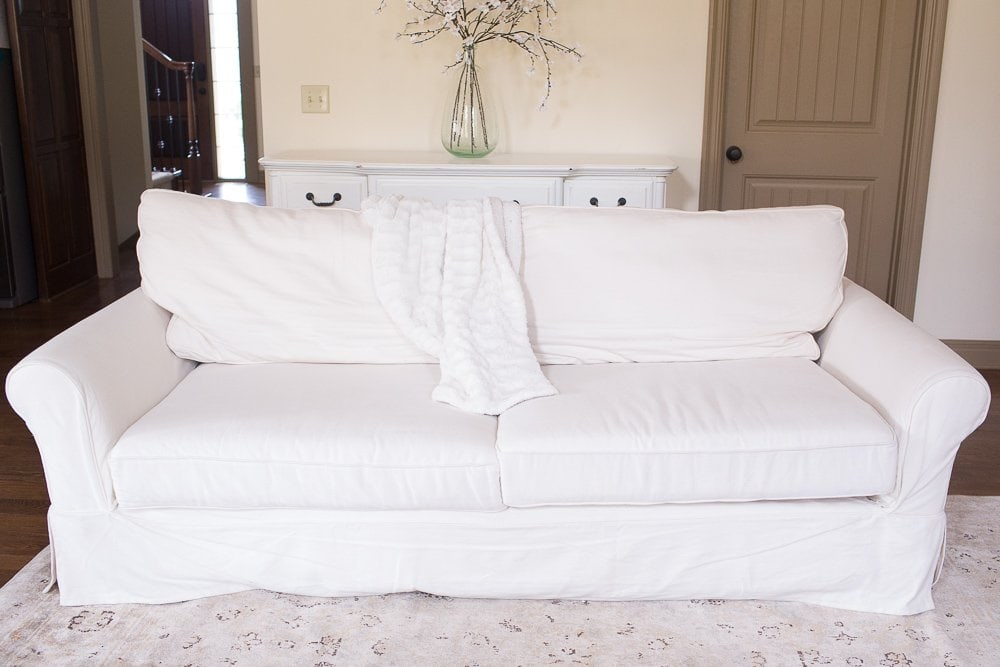 pottery barn grand sofa review | 10 Tips on How to Choose a Couch: Pottery Barn versus Ikea Sofa featured by top US lifestyle blogger, Sengerson