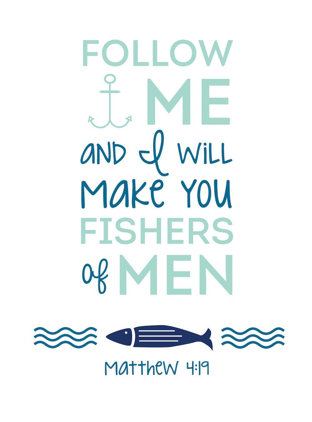 Free Bible Printable Matthew 4_19