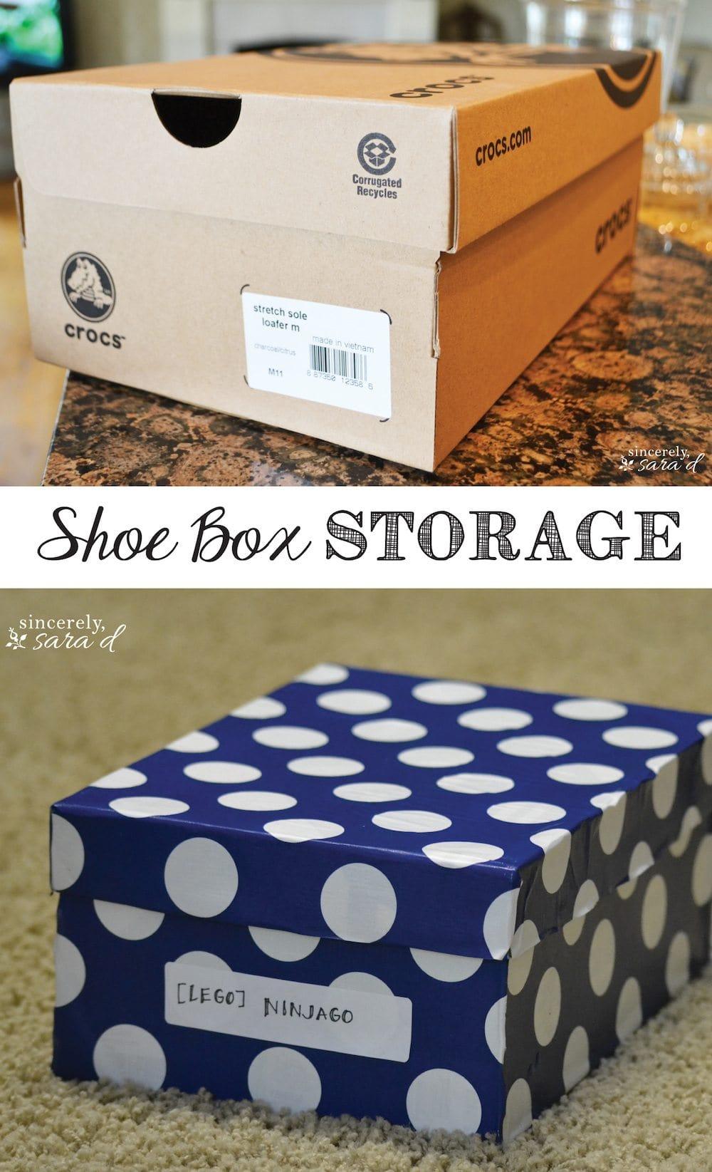 Shoe Box Storage Pin