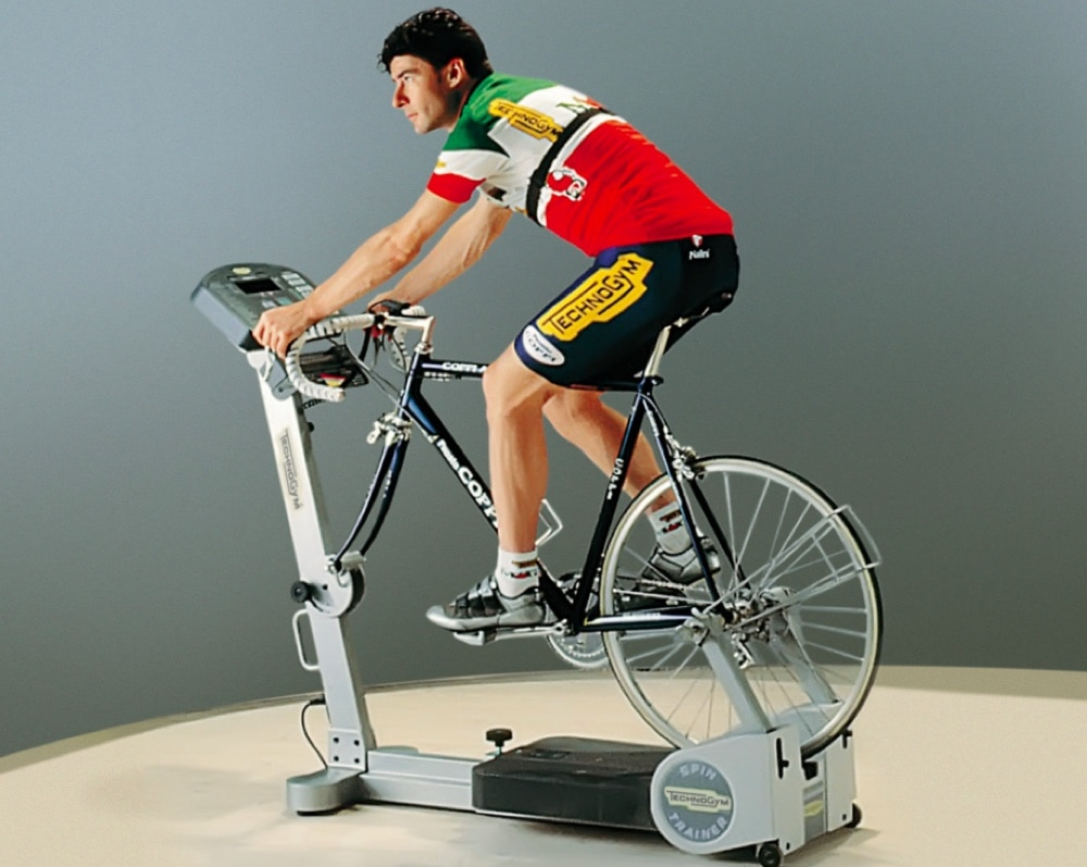 751f419f716 However, TechnoGym is no stranger to cycling and bike trainers. They  created the SPINTRAINER in the 1990s. It was a cutting-edge product at that  time and ...