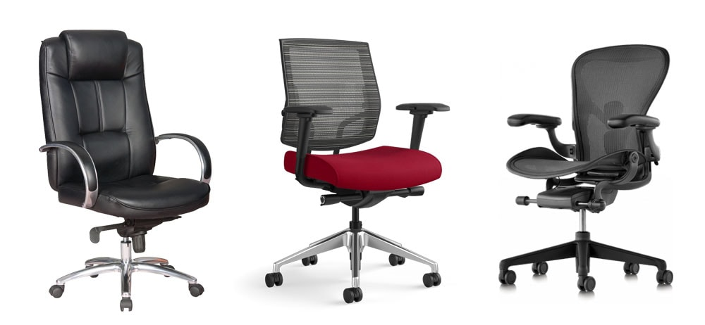 Herman Miller office chairs on white background