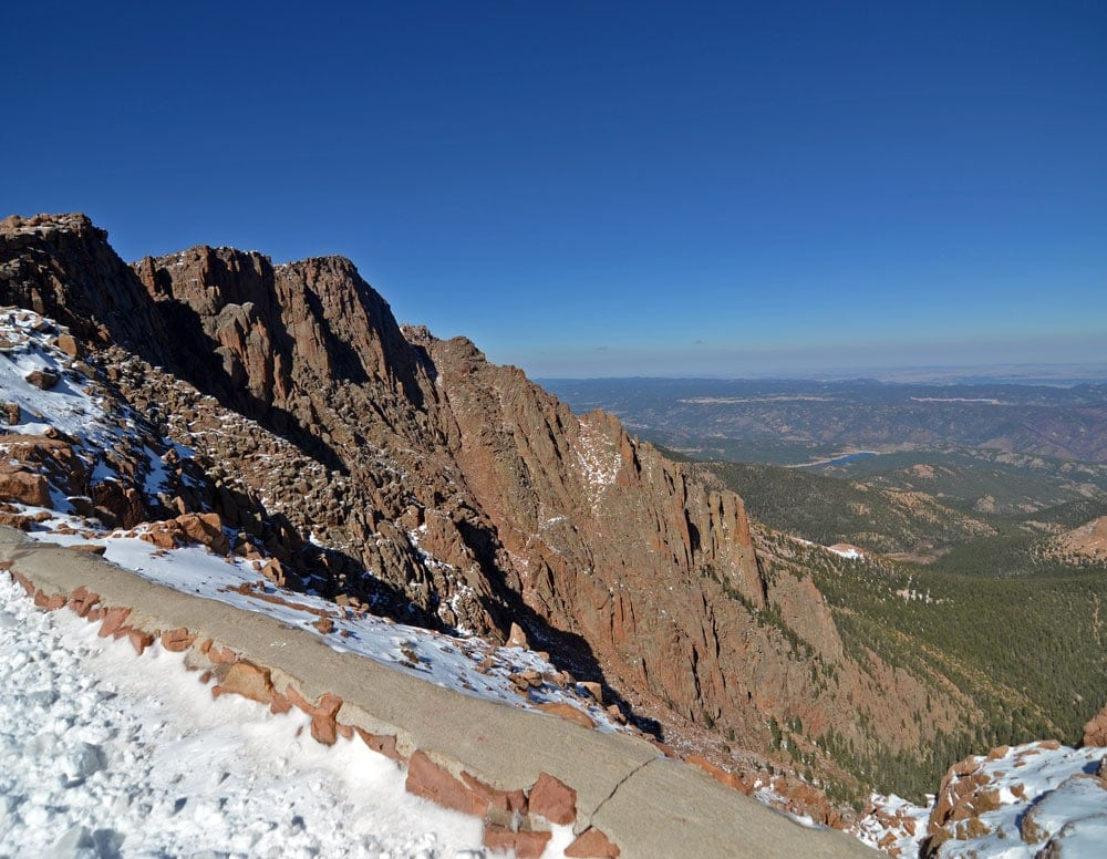 Some of the trail leading up Pikes Peak