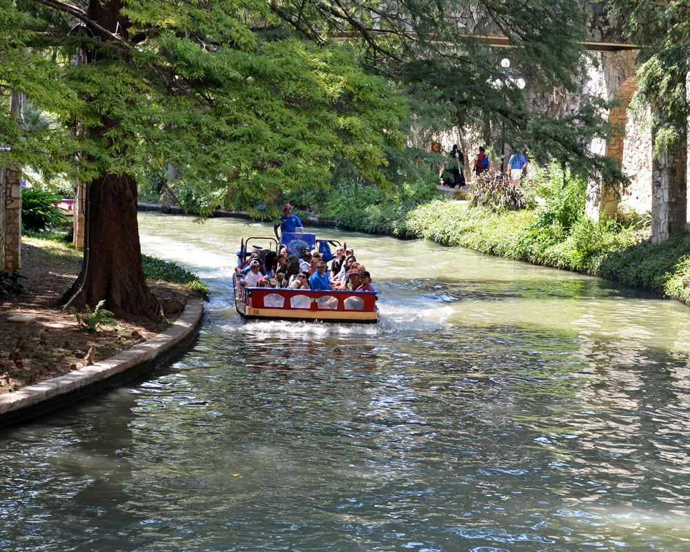 San Antonio River Walk narrated river cruise boat