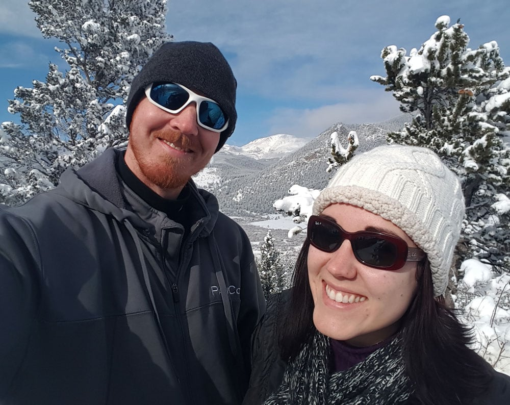 Brooke and Buddy on the last day our their Estes Park getaway