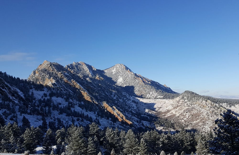 Mountain view from Fowler Trail in Eldorado Canyon
