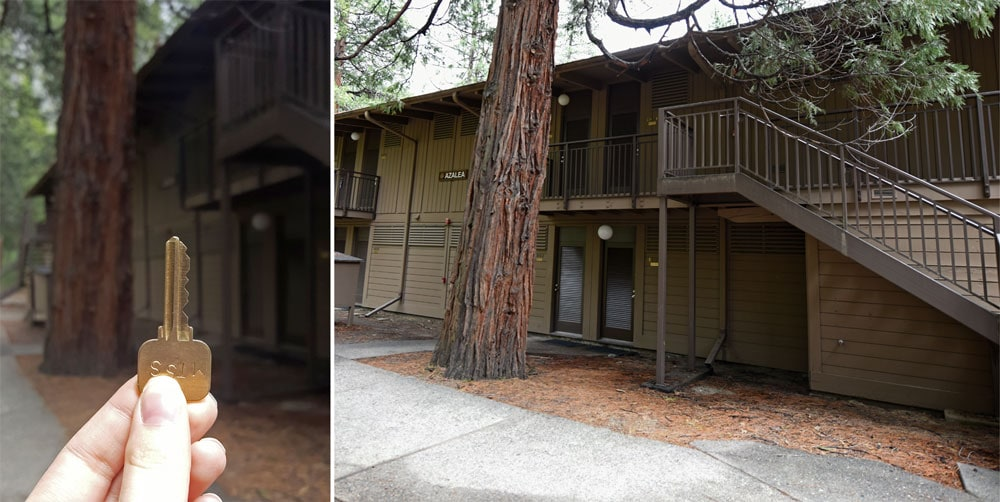The outside of Yosemite Valley Lodge