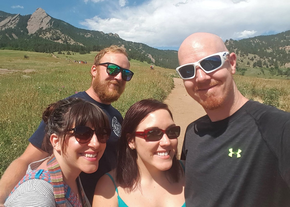 ChataquaParkBoulder - friends visiting colorado
