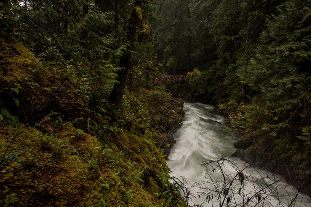 Little Qualicum Falls in Parksville, BC, Canada