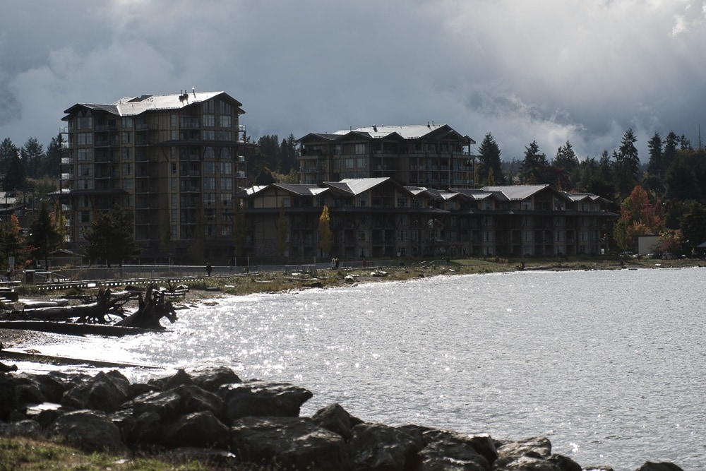 View towards the beach club resort in parksville bc