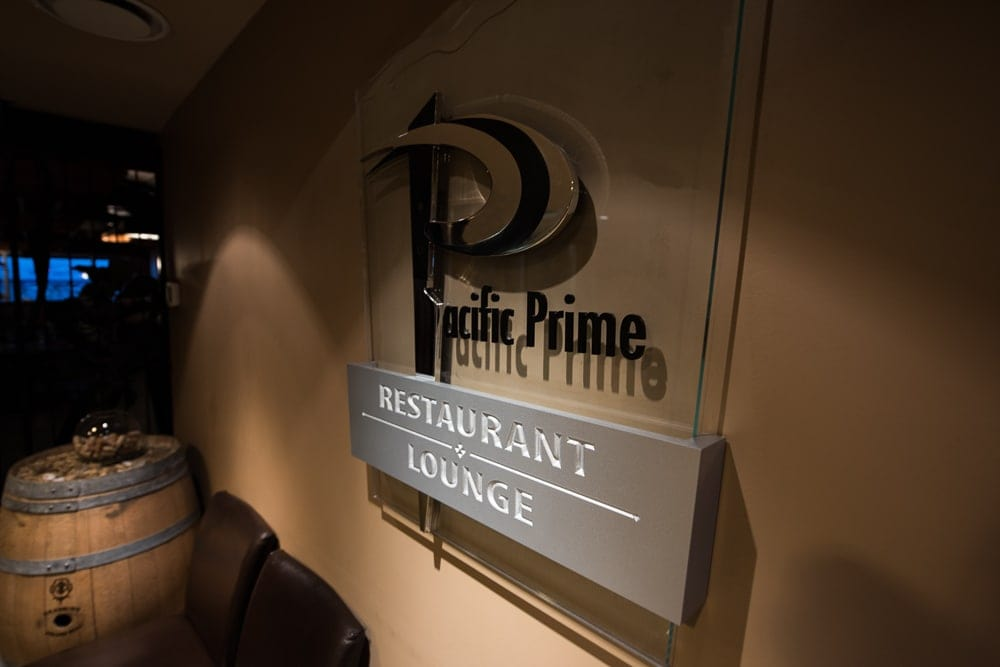 On-site restaurant sign Pacific Prime
