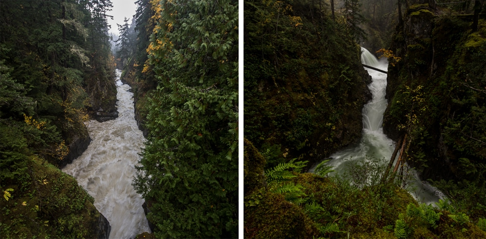 Waterfalls nears Parksville