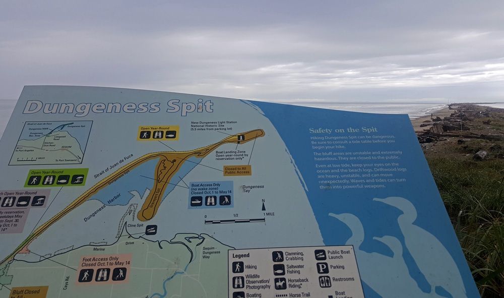 Dungeness Spit map