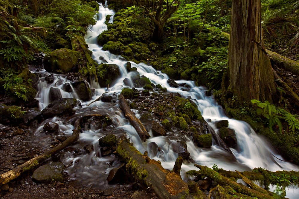 Waterfall you will need to cross on your trail
