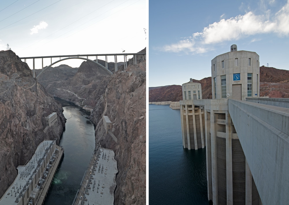 Different views of the Hoover Dam
