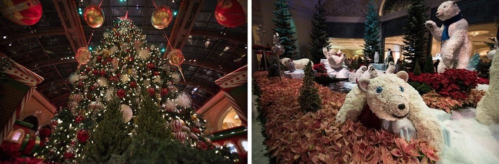 Christmas in the Bellagio hotel in Las Vegas