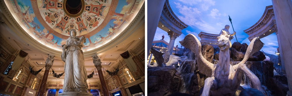 Inside some of the las vegas hotels with their very intrinsic decor