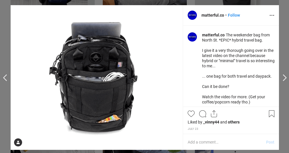 Matterful Backpack Example