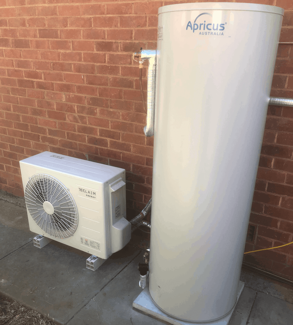 Reclaim Energy Co2 Hot Water Heat Pump installed in Woodville, Adelaide