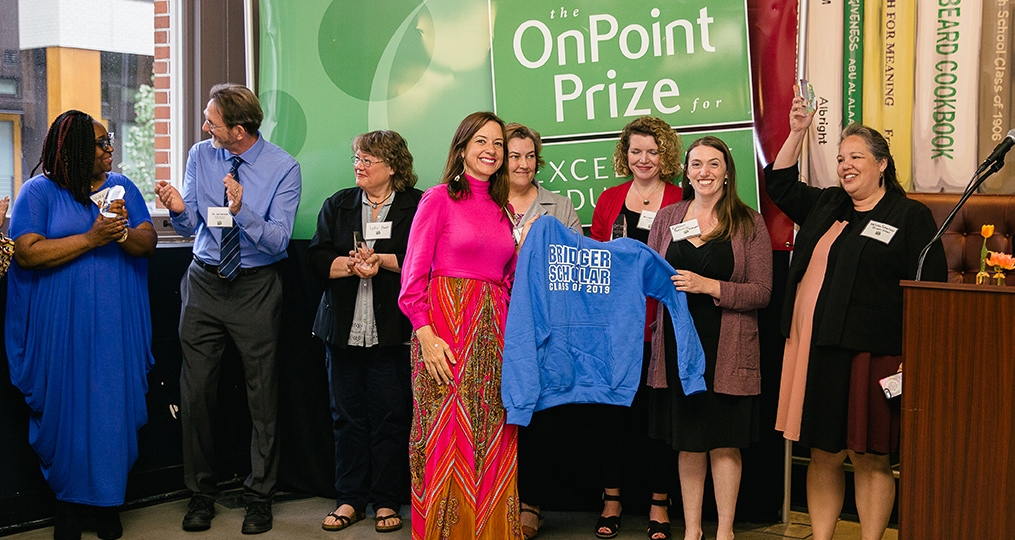 Bridger Scholars Program_OnPoint Prize for Excellence in Education award ceremony 2019