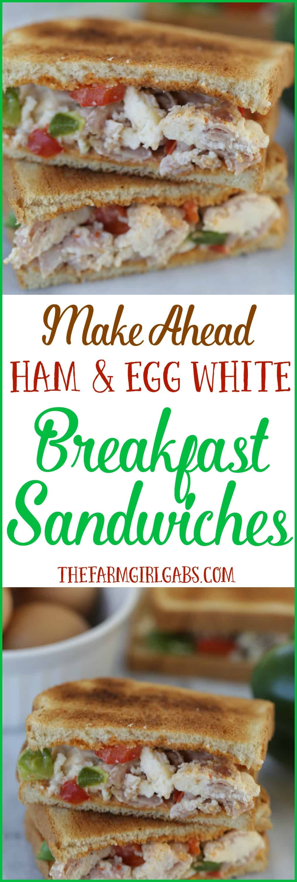 Serve breakfast in a flash with these Make Ahead Ham And Egg White Breakfast Sandwiches. #SandwichWithTheBest #Ad