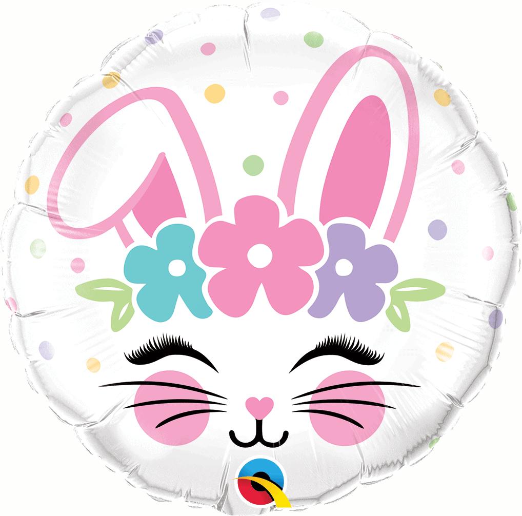 Ballon rond Tête de lapin à envoyer.