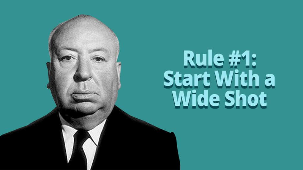 Alfred Hitchcock practically invented the rules of visual storytelling